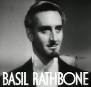 Portrait of Basil Rathbone (click to view image source)